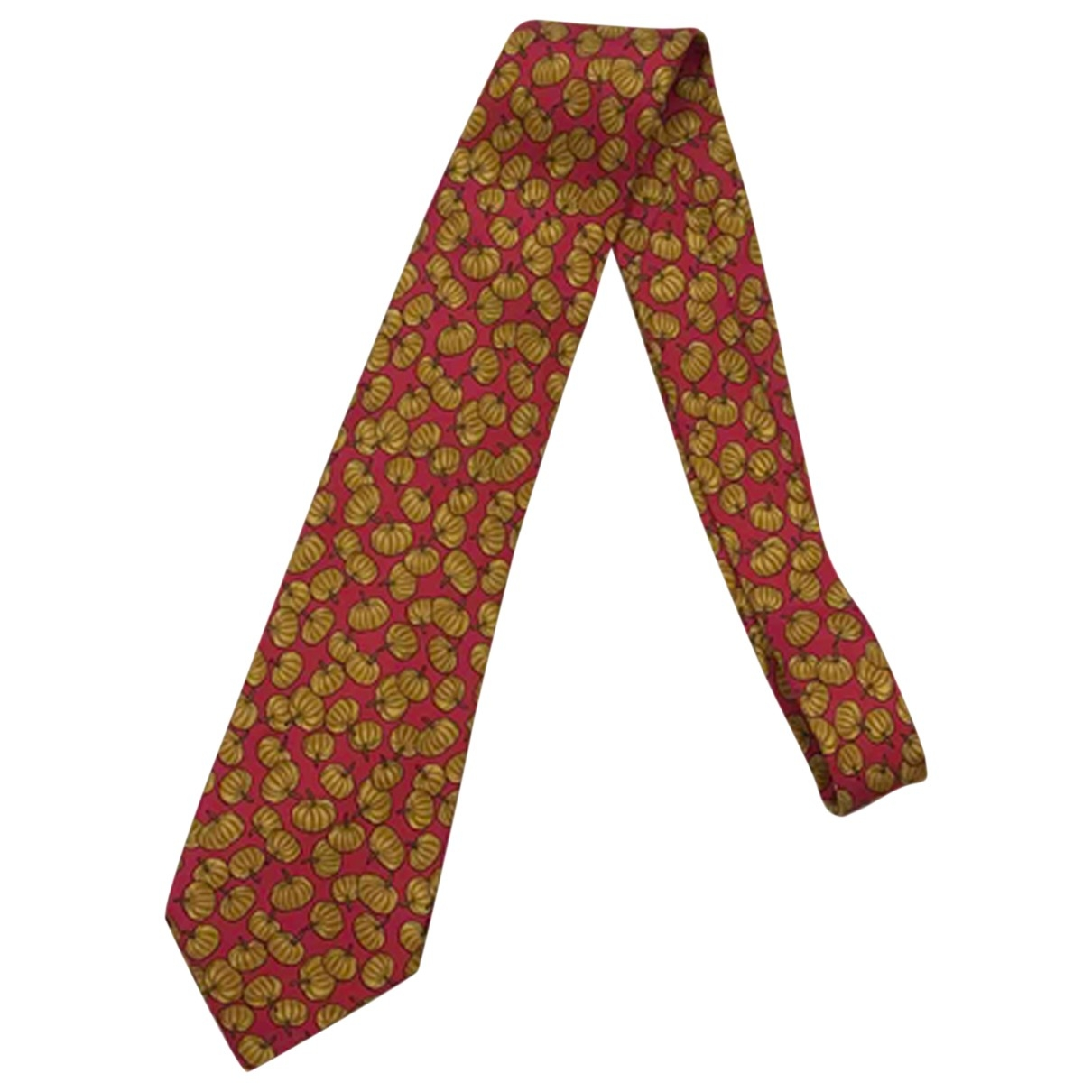 Hermès \N Red Silk Ties for Men \N