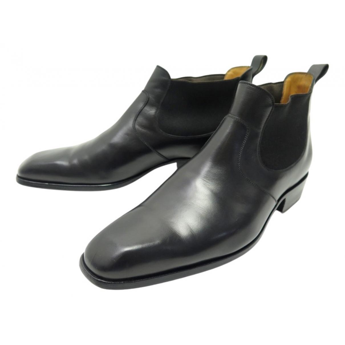 Jm Weston \N Stiefel in  Schwarz Leder