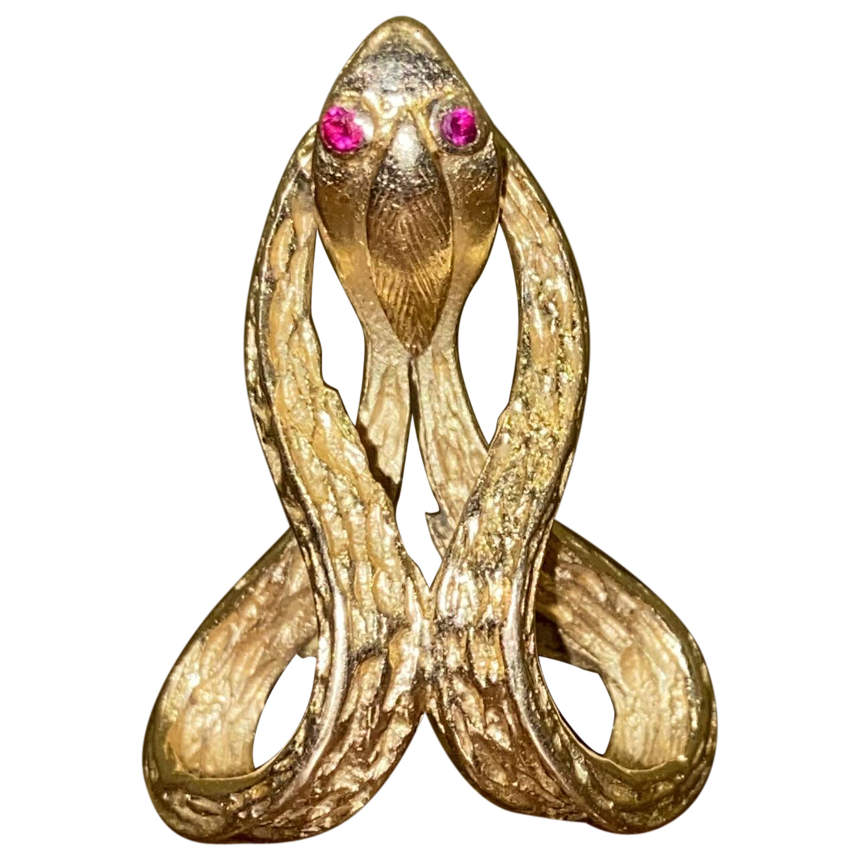 - Bague Motifs Animaliers pour femme en or jaune - dore