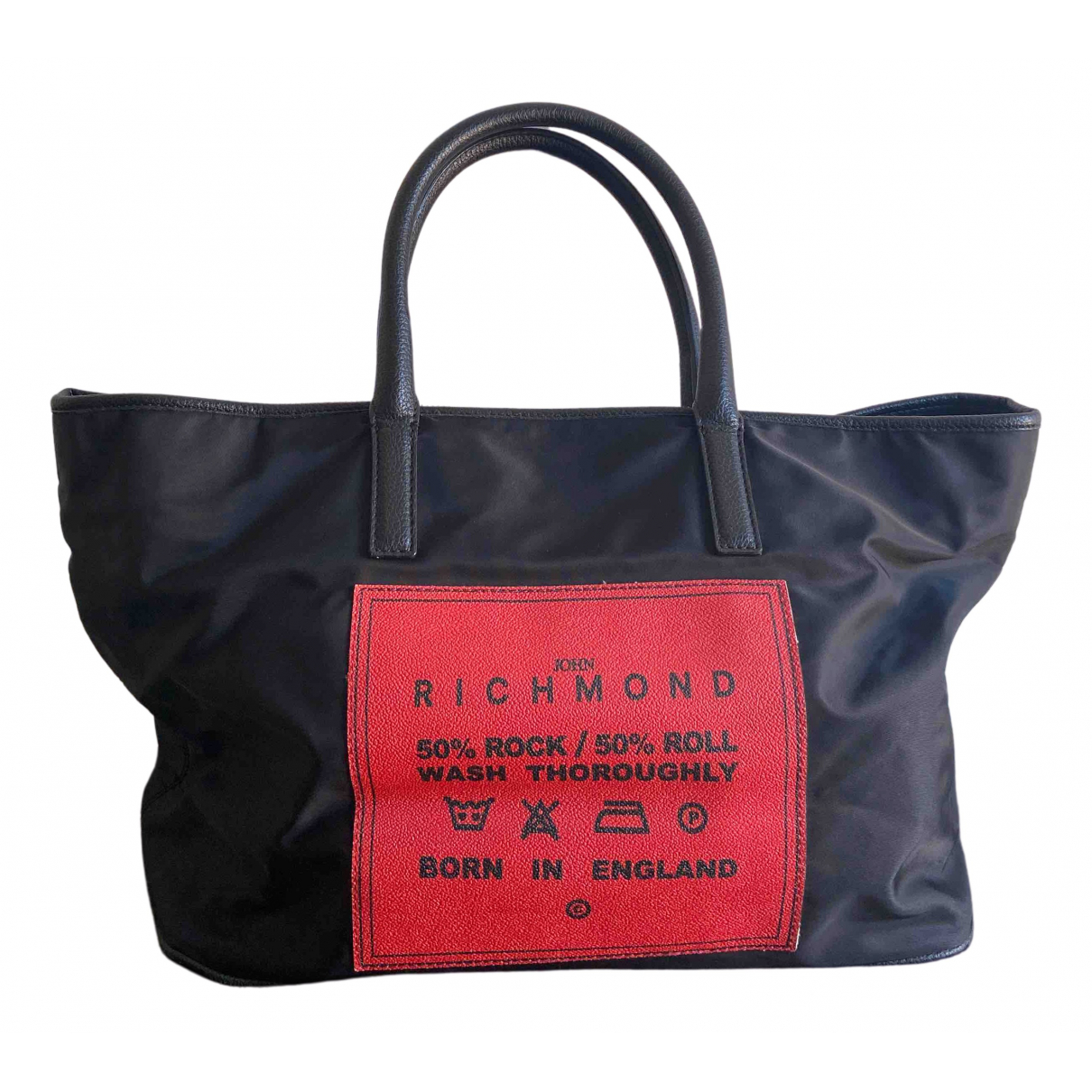 John Richmond - Sac a main   pour femme en toile - noir