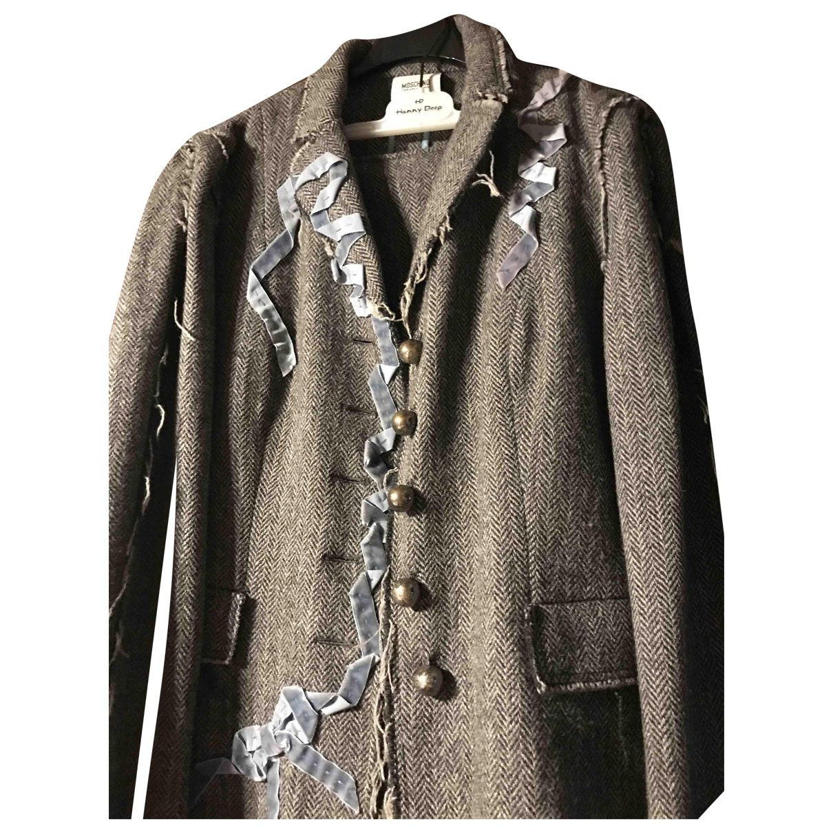 Moschino Cheap And Chic \N Grey Wool jacket for Women 46 IT