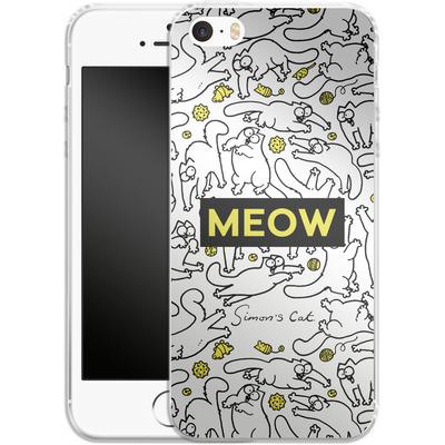 Apple iPhone SE Silikon Handyhuelle - Meow von Simons Cat