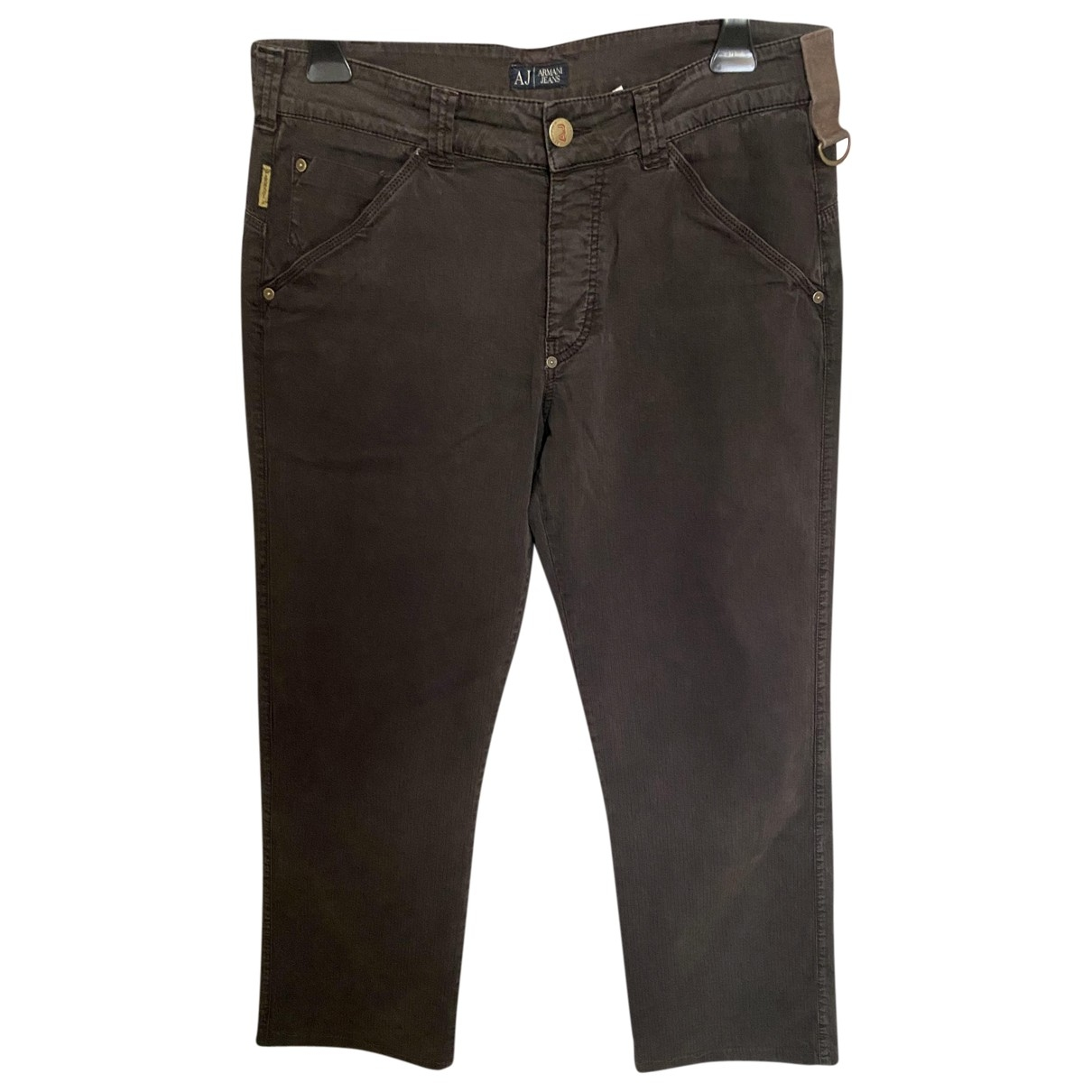 Armani Jeans \N Brown Cotton Trousers for Men 34 UK - US
