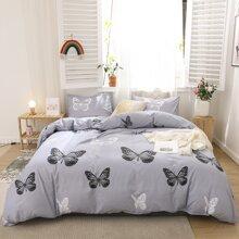 Set de cama con mariposa sin relleno