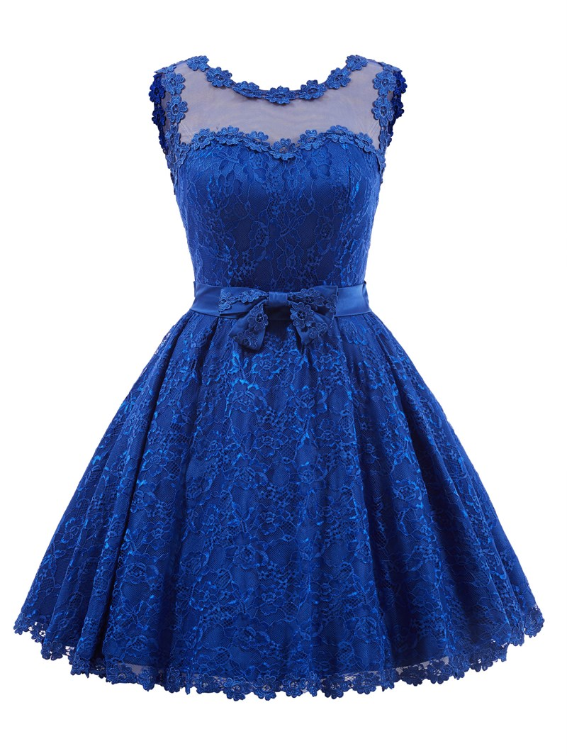 Ericdress Sweet A Line Lace Bowknot Short/Mini Little Party Dress