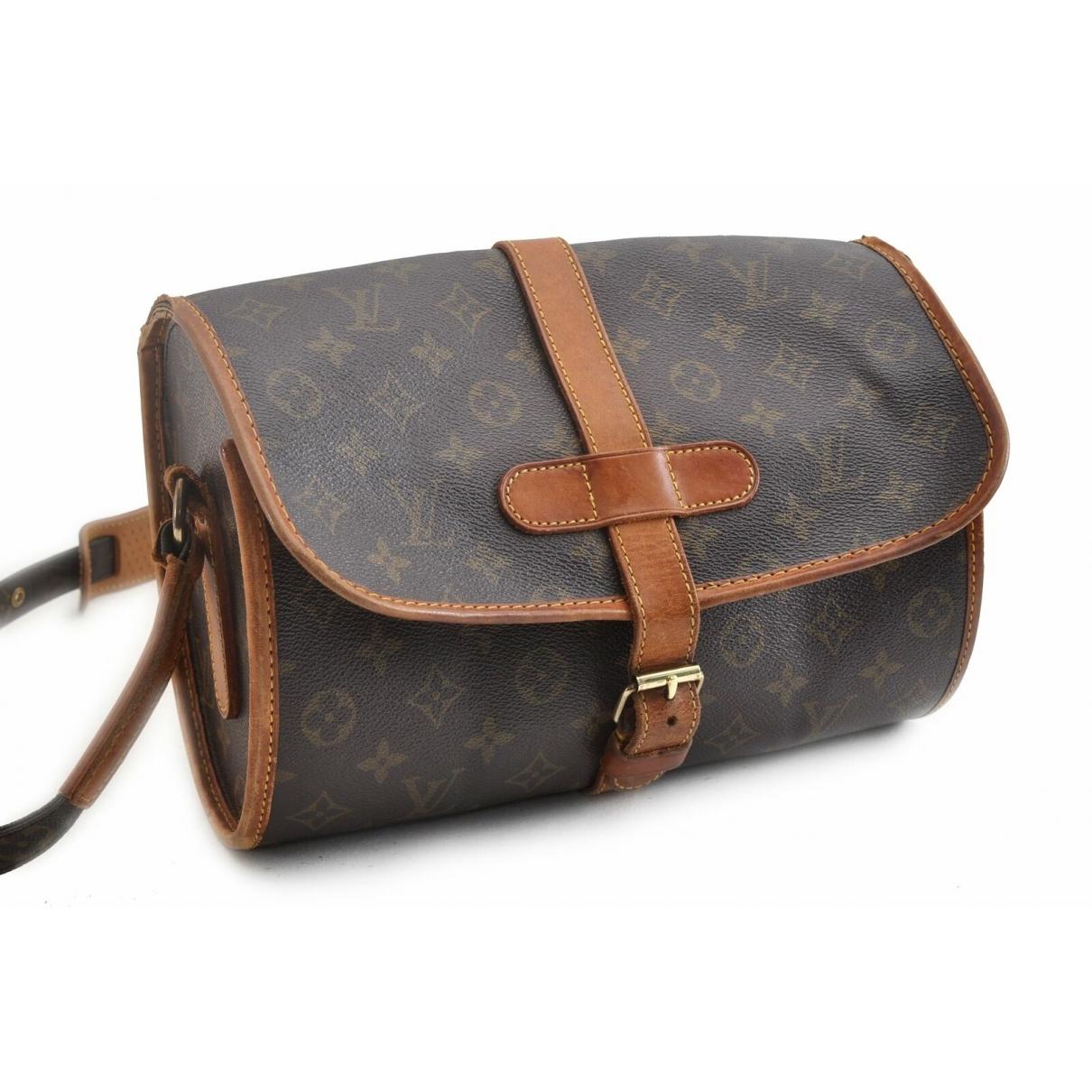 Louis Vuitton - Sac a main Marne pour femme en toile - marron