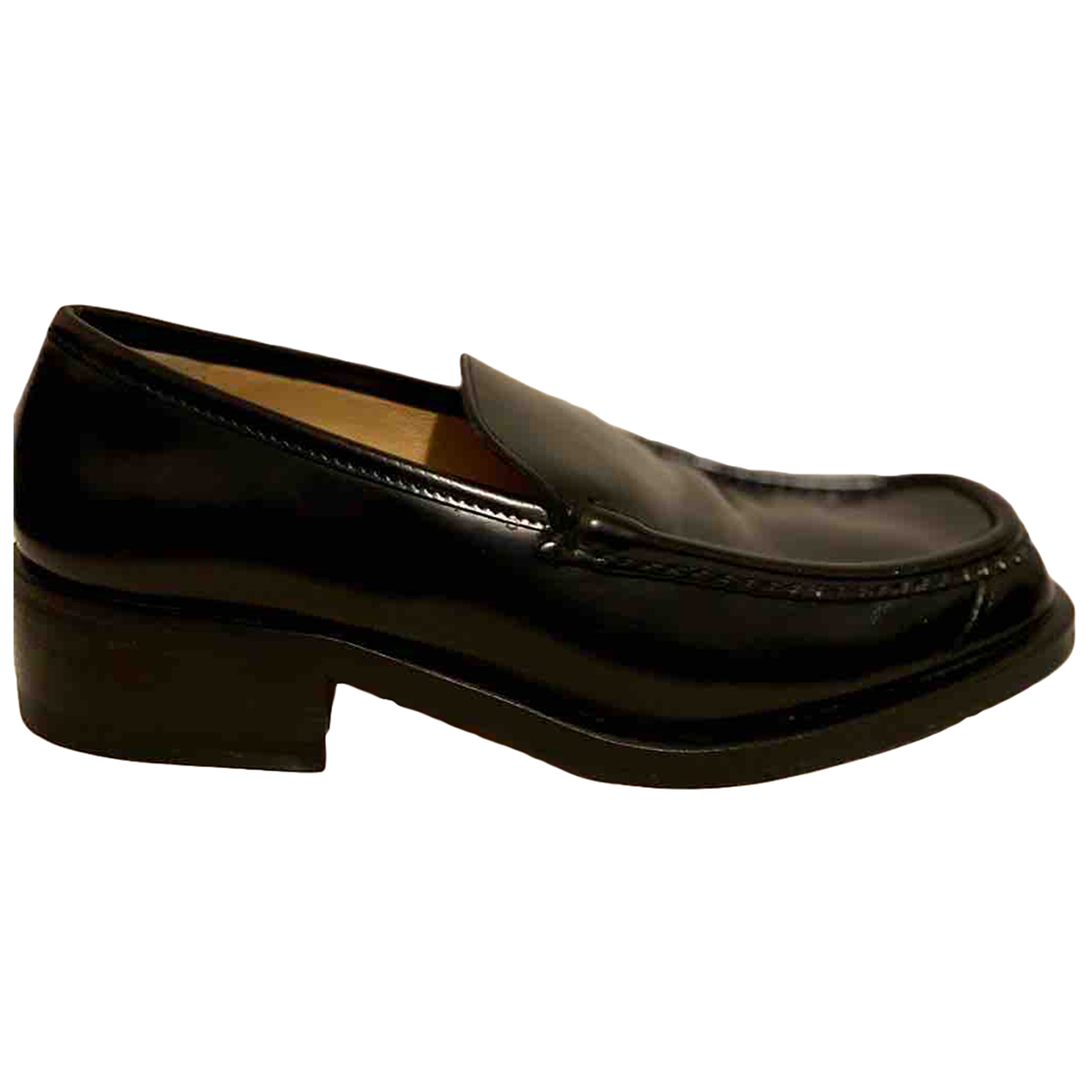 Gucci N Black Patent leather Flats for Men 41 IT