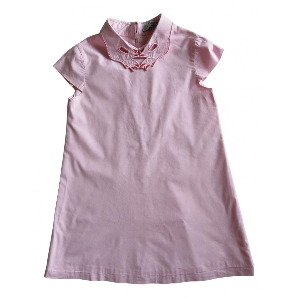 Vivetta - Robe    pour enfant en coton - rose