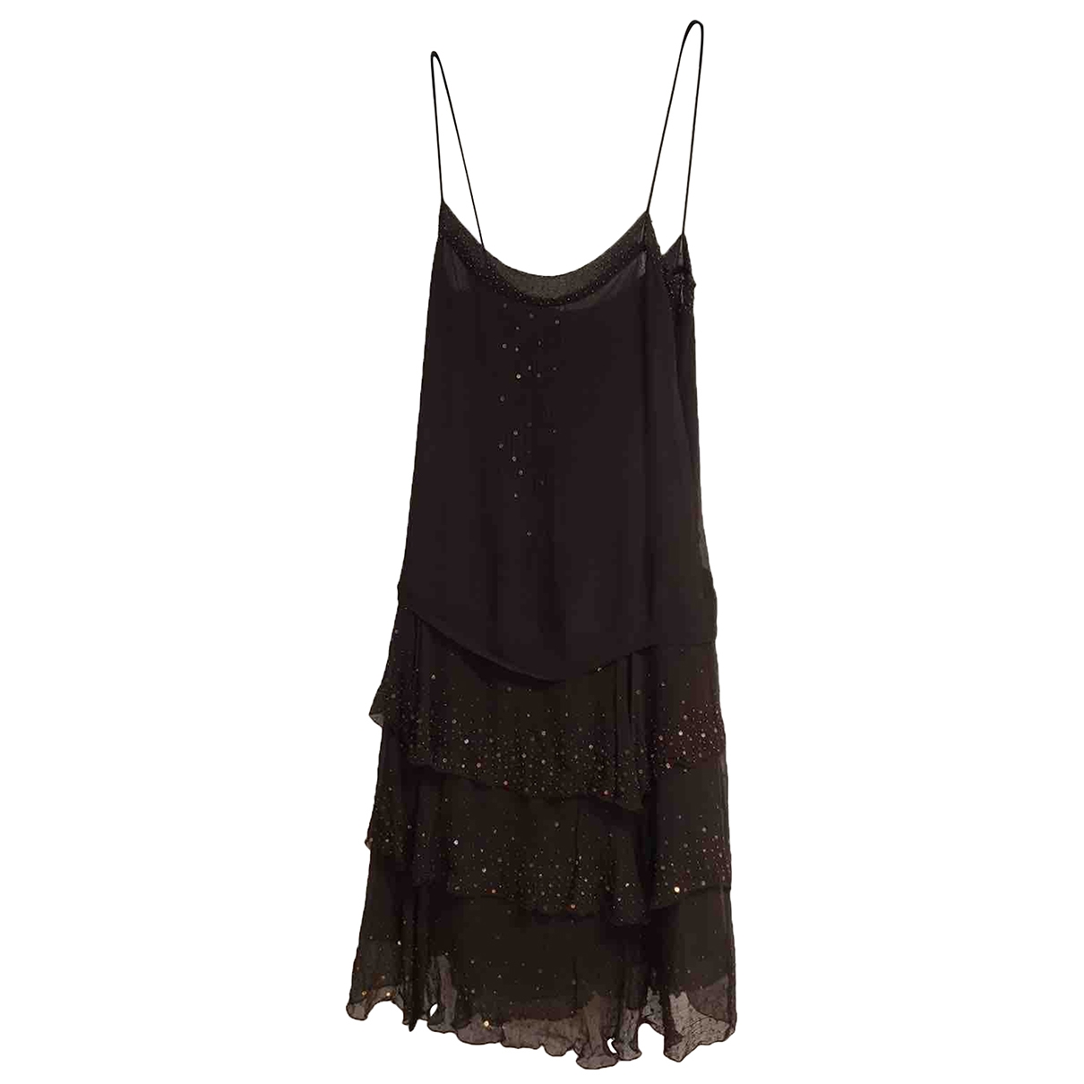 Zara \N Brown Silk dress for Women L International