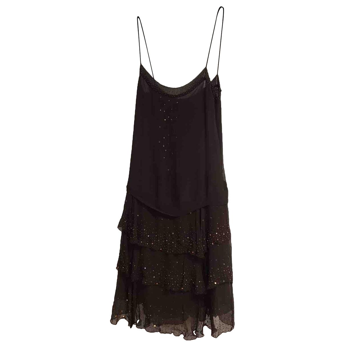 Zara \N Brown Silk dress for Women L International