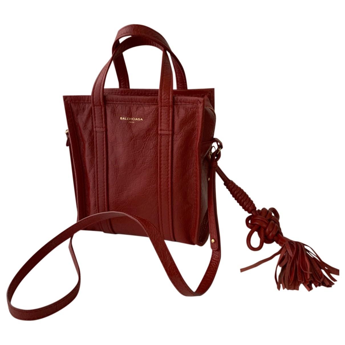 Balenciaga Bazar Bag Handtasche in  Rot Leder