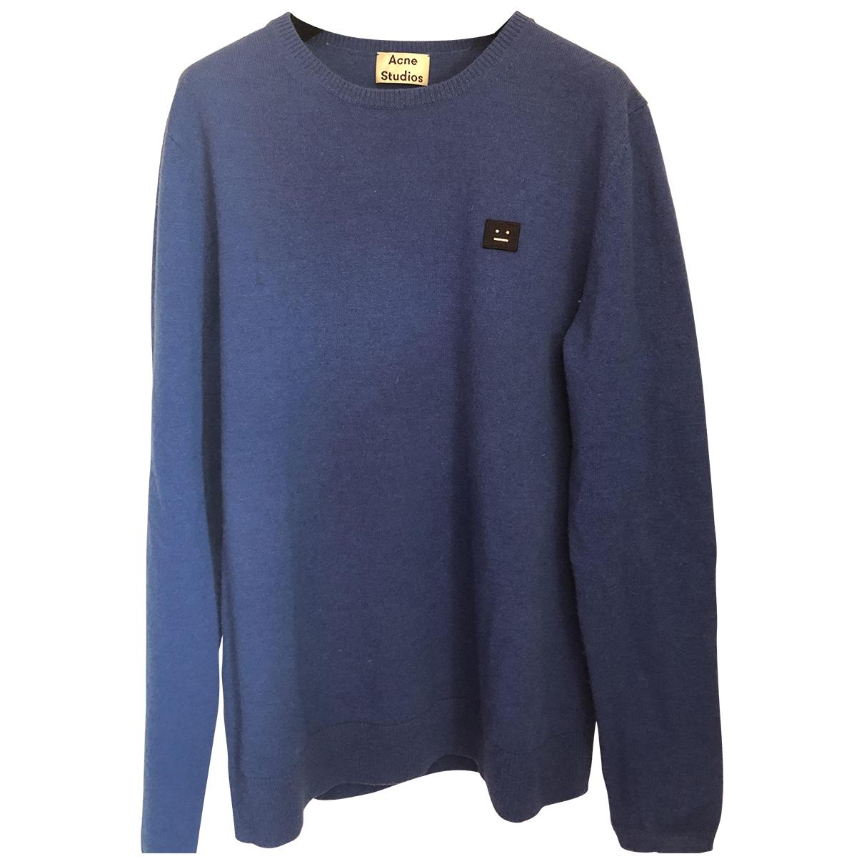 Acne Studios \N Pullover.Westen.Sweatshirts  in  Blau Wolle