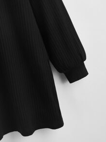 Drop Shoulder Rib-knit Dress