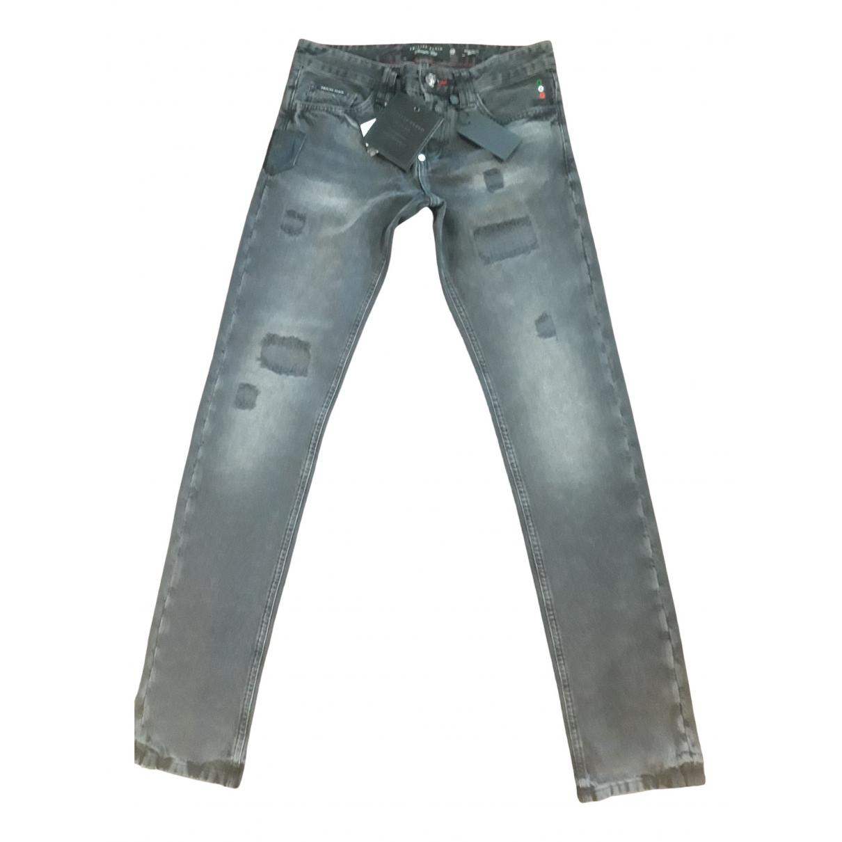 Philipp Plein \N Grey Cotton Jeans for Men 32 US
