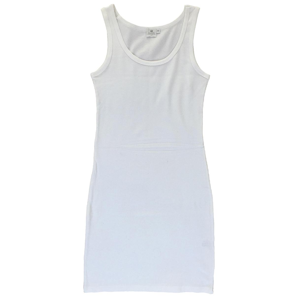 Sunspel \N Kleid in  Weiss Baumwolle