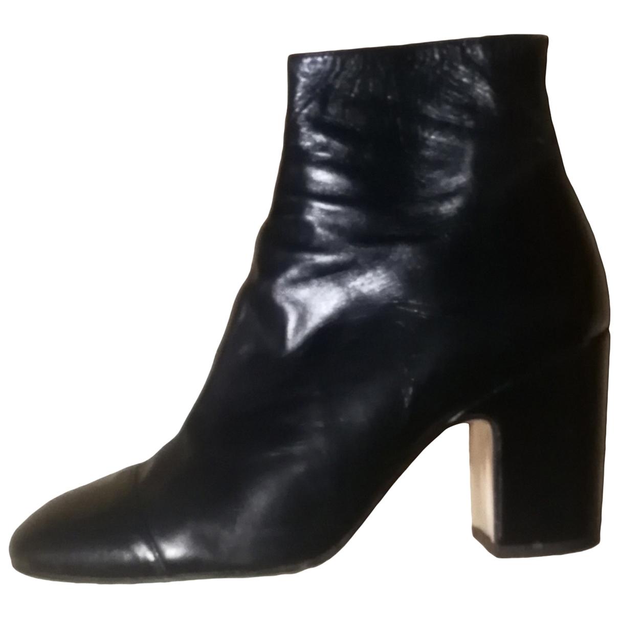 Zara - Boots   pour femme en cuir - bleu