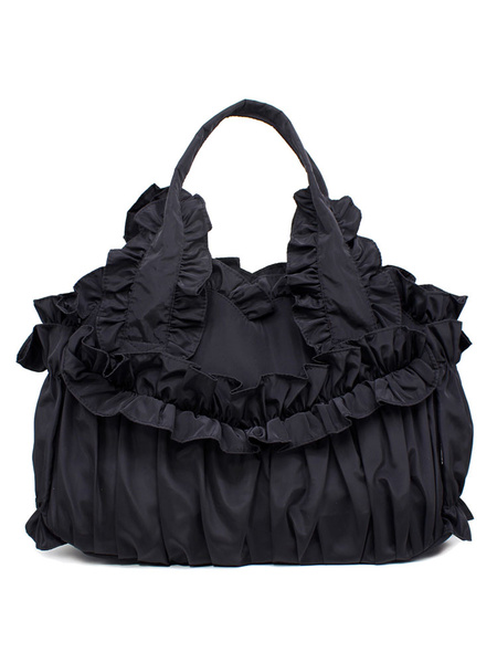 Milanoo Classic Lolita Handbag Ruffle Lolita Bag