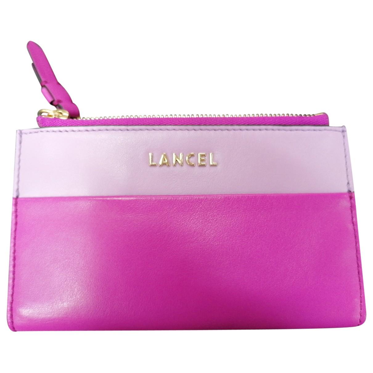 Lancel \N Pink Leather wallet for Women \N