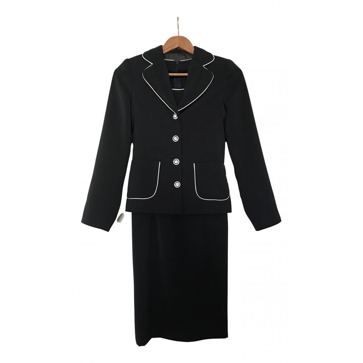 Non Signe / Unsigned \N Kleid in  Marine Tweed