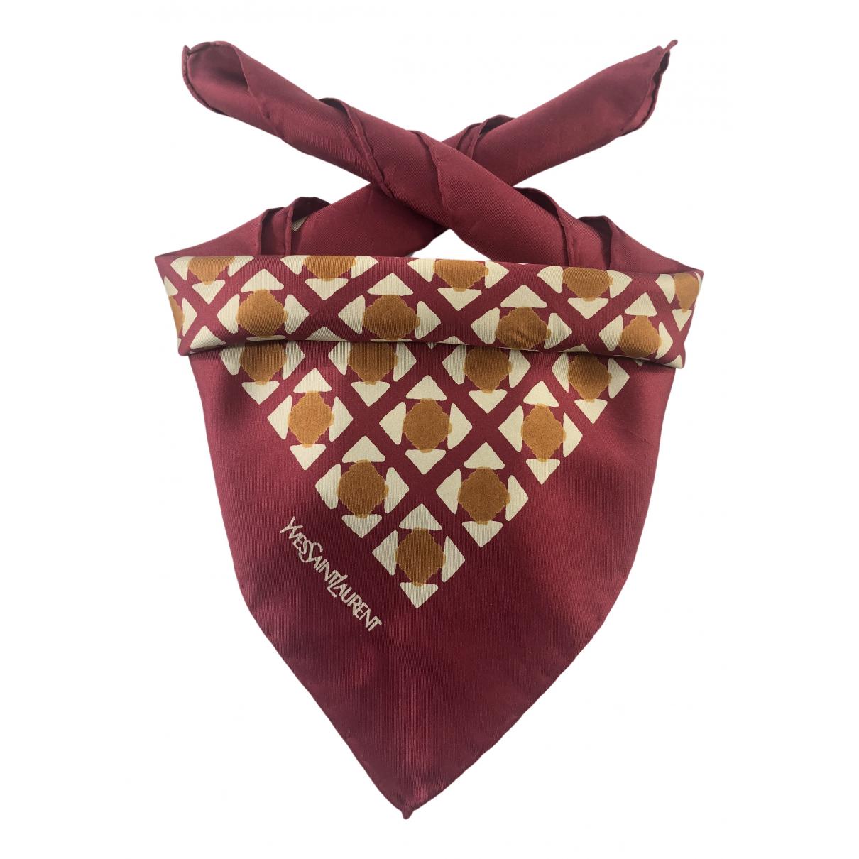 Yves Saint Laurent N Burgundy Silk Silk handkerchief for Women N