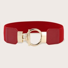 Cinturon ancho con hebilla de aro O