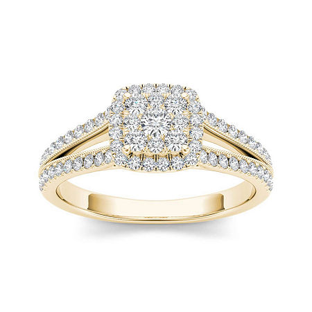 1/2 CT. T.W. Diamond 10K Yellow Gold Engagement Ring, 6 1/2 , No Color Family