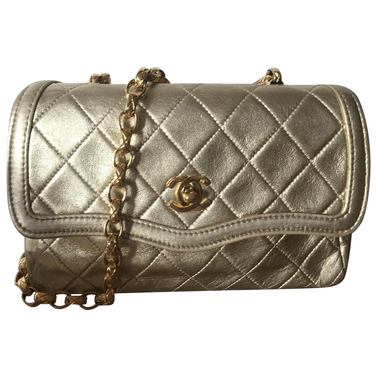 Chanel Diana Gold Leather handbag for Women \N