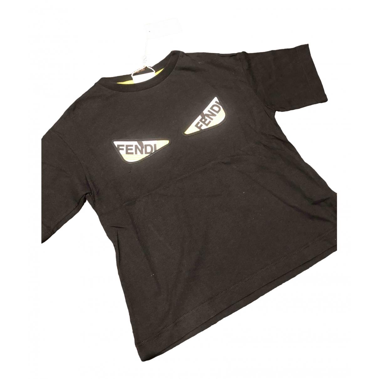 Fendi - Top   pour enfant en coton - noir