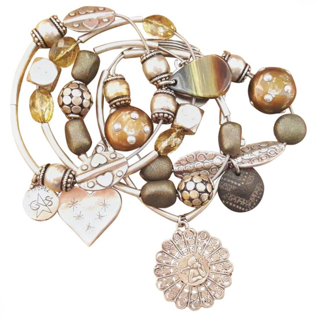 Gas - Bracelet   pour femme en metal - argente