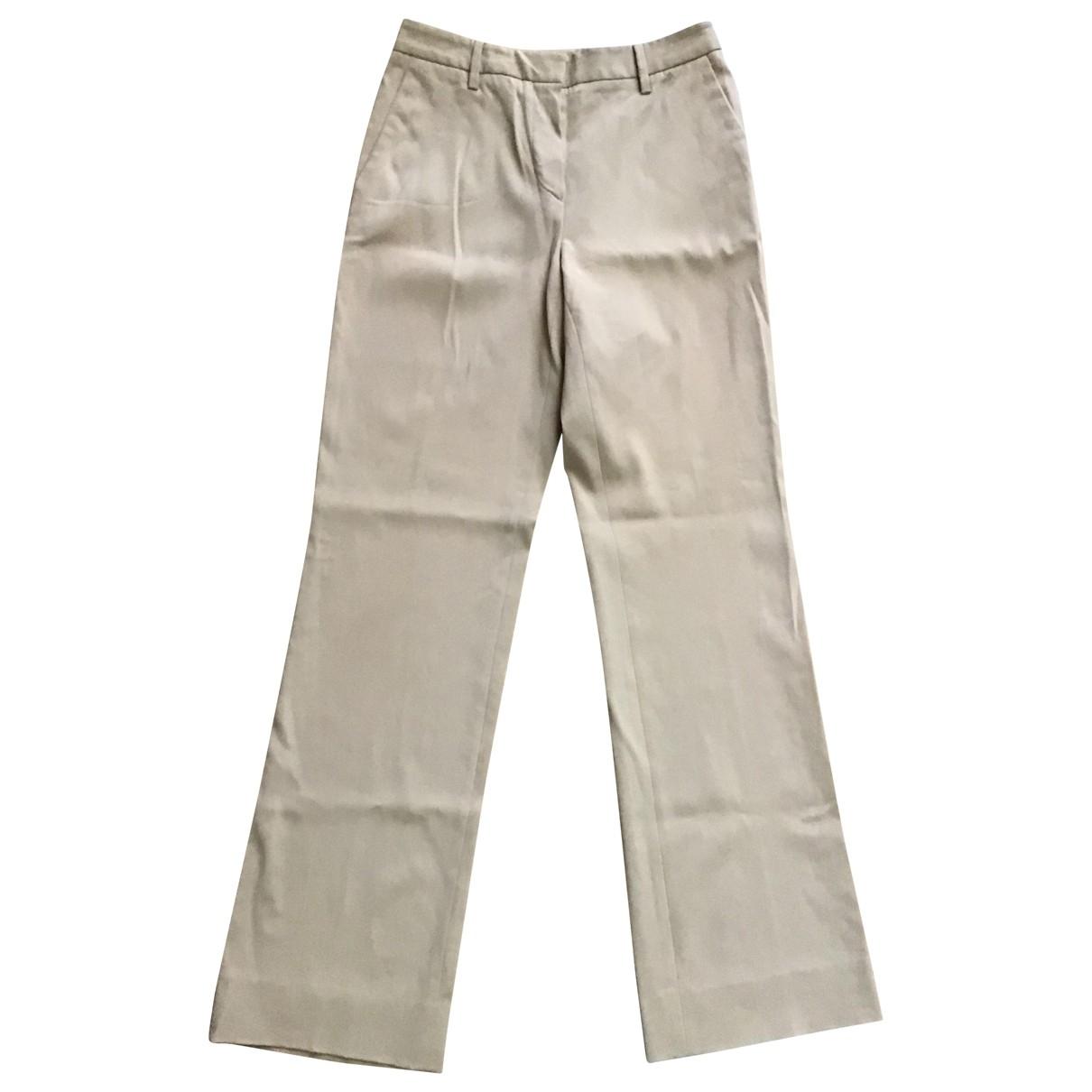 Prada \N Beige Trousers for Women 42 IT