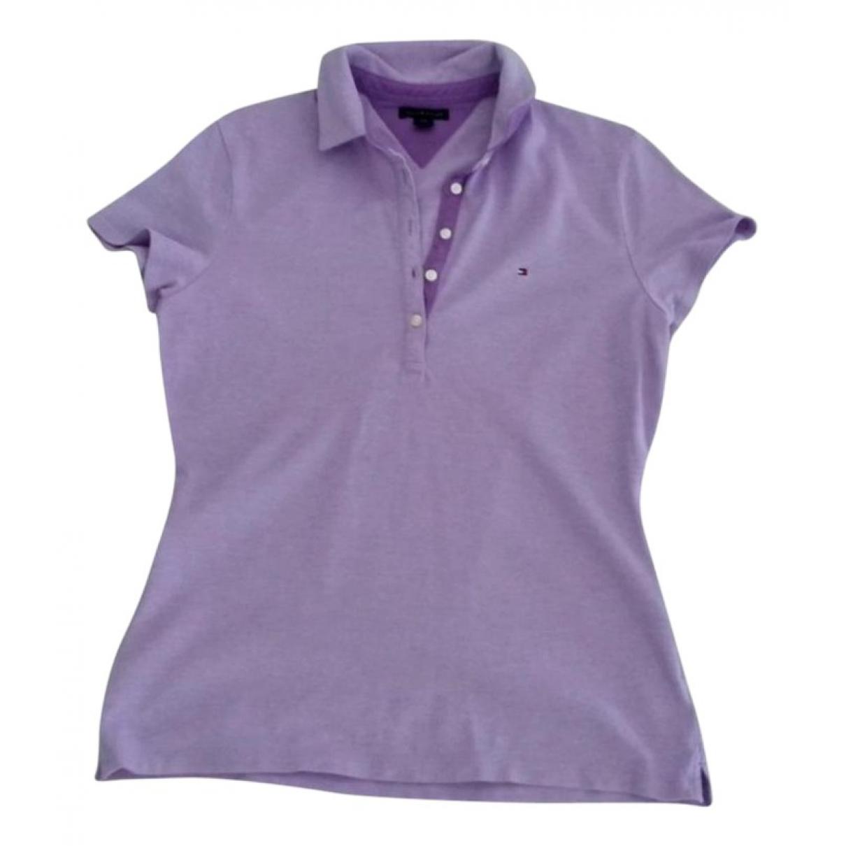 Tommy Hilfiger - Top   pour femme en coton - violet