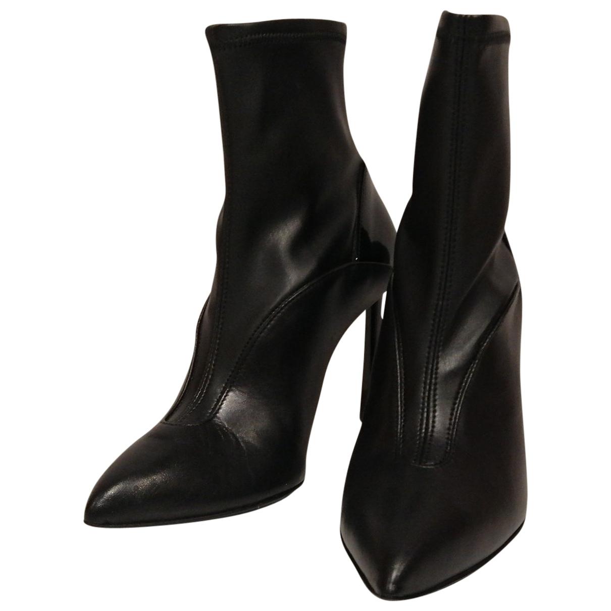 Just Cavalli - Boots   pour femme en cuir - noir