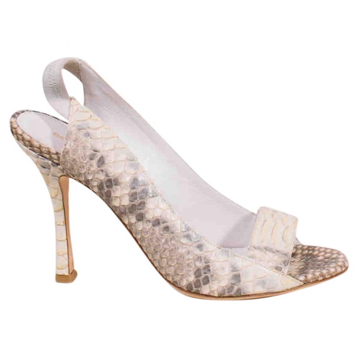 Sergio Rossi \N Python Heels for Women 38.5 EU