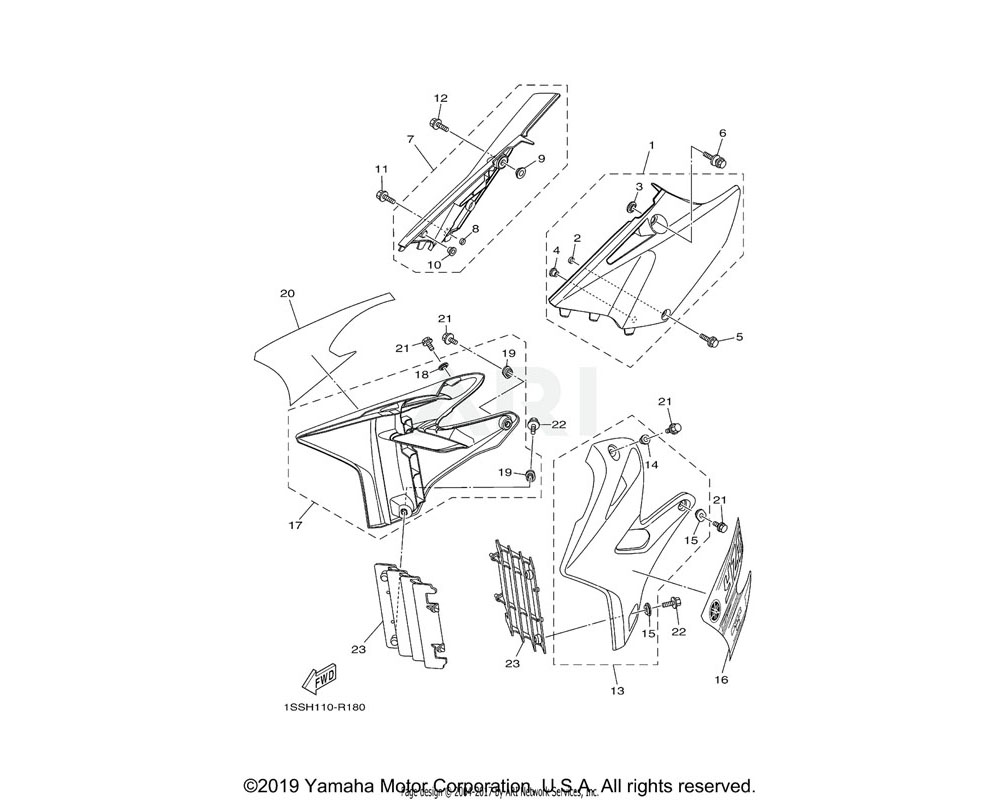 Yamaha OEM BF1-2173F-00-00 GRAPHIC 2