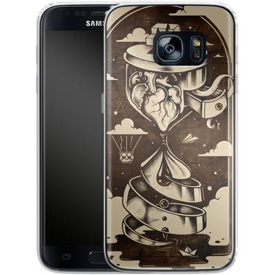 Samsung Galaxy S7 Silikon Handyhuelle - Time Heals von Enkel Dika
