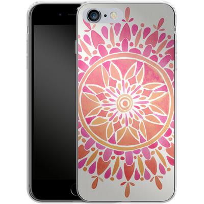 Apple iPhone 6 Plus Silikon Handyhuelle - Mandala Pink Ombre von Cat Coquillette