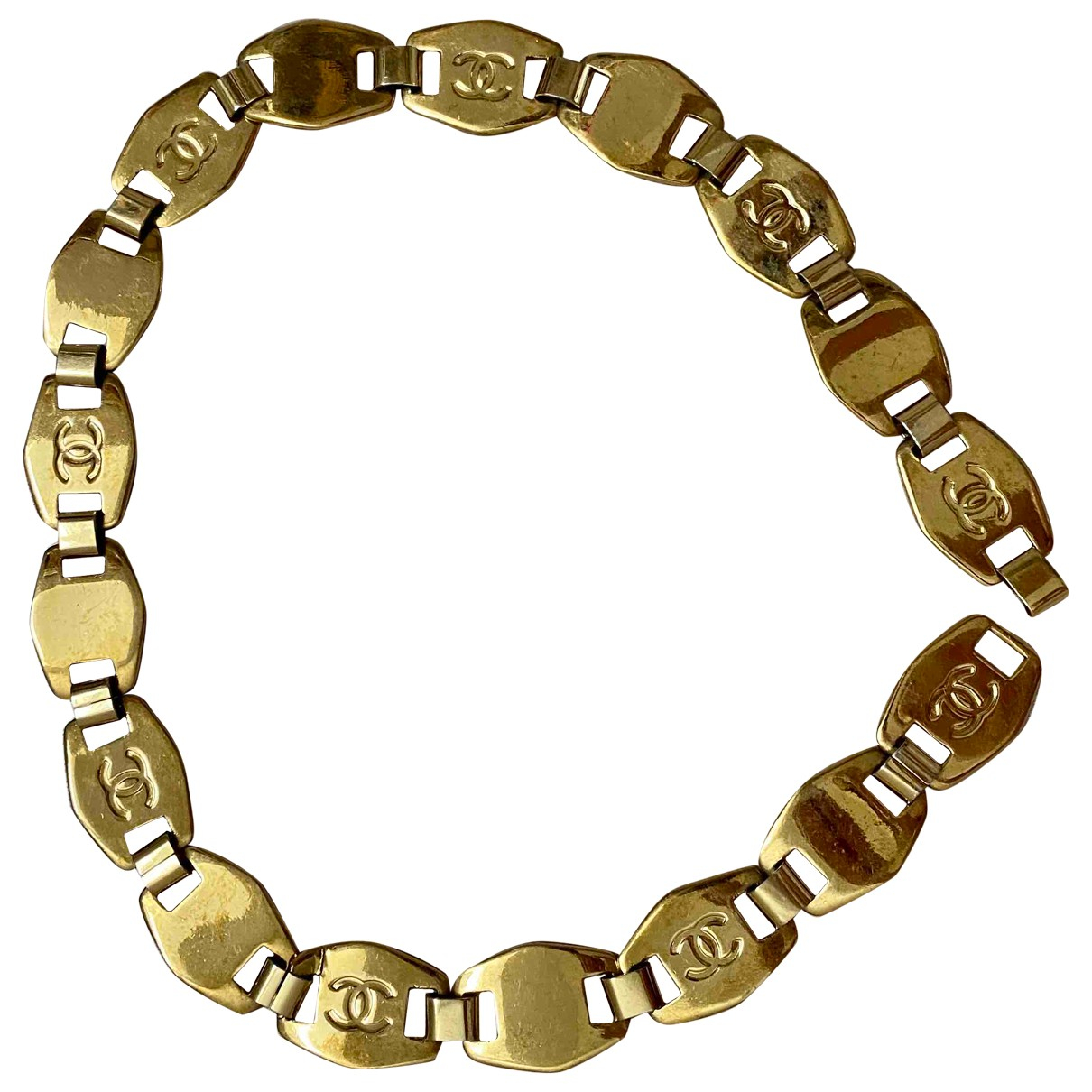 Chanel N Gold Metal belt for Women XXS International