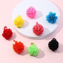 8 Stuecke Kleinkind Maedchen Haargummis mit Blumen Dekor