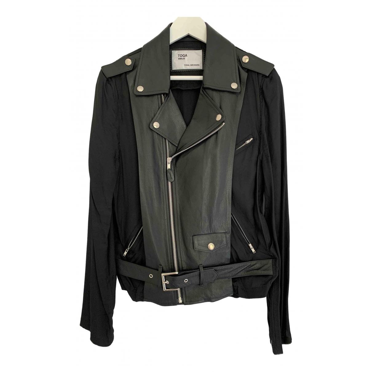 Toga Archives \N Black Leather jacket  for Men 46 IT