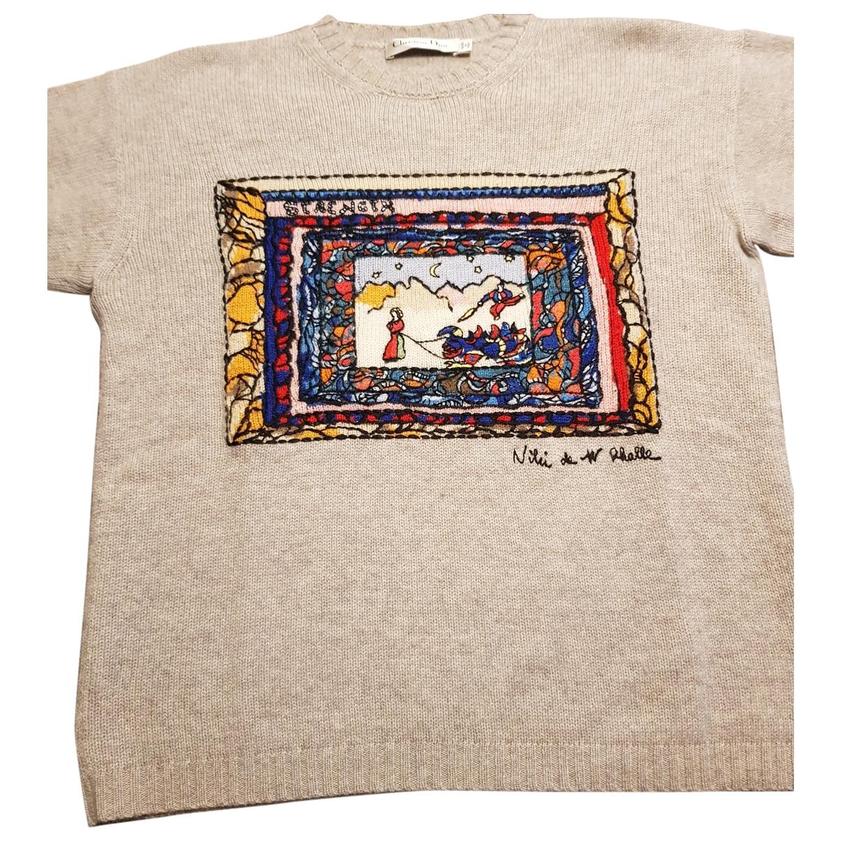Dior \N Grey Cashmere Knitwear for Women 44 IT