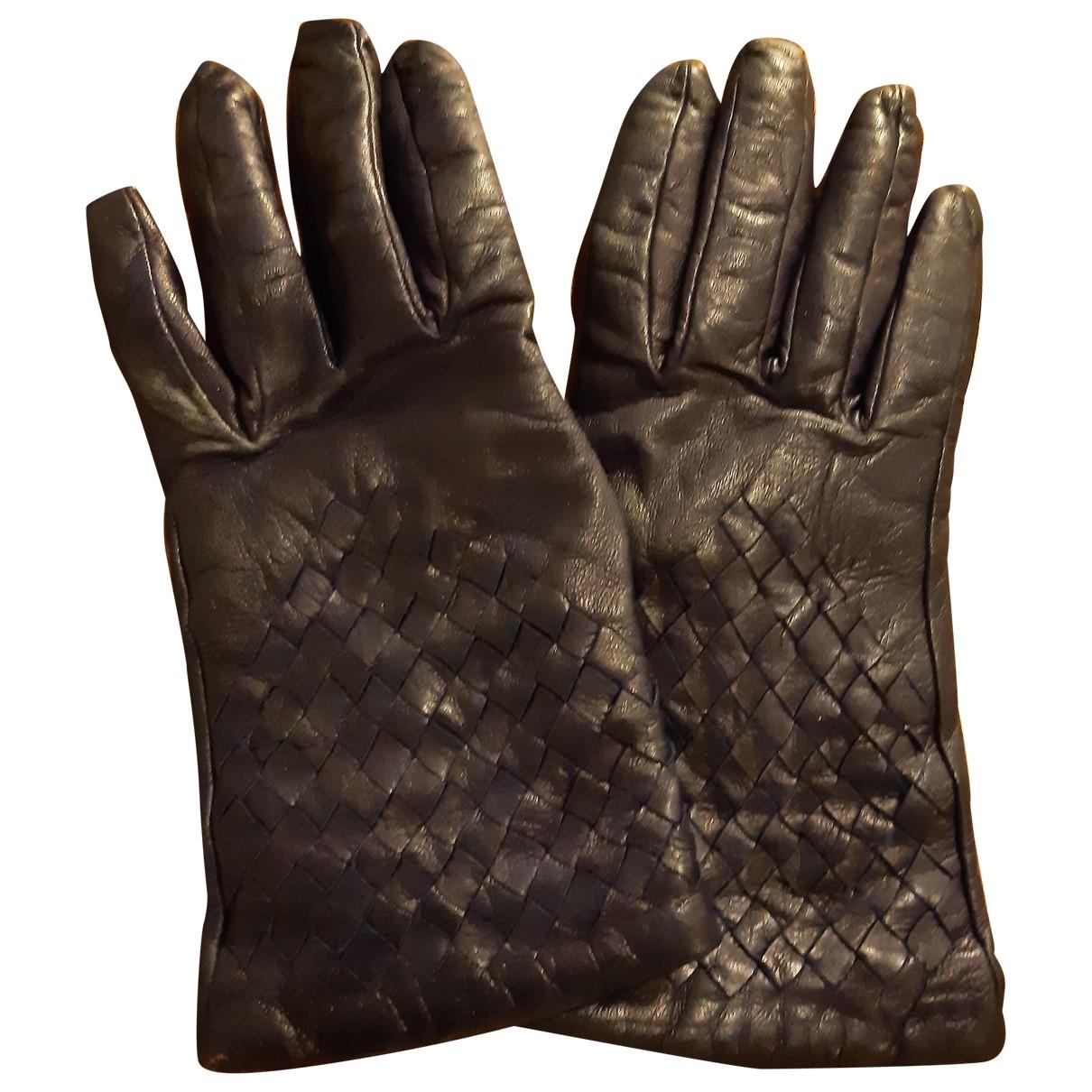 Bottega Veneta \N Handschuhe in  Lila Leder