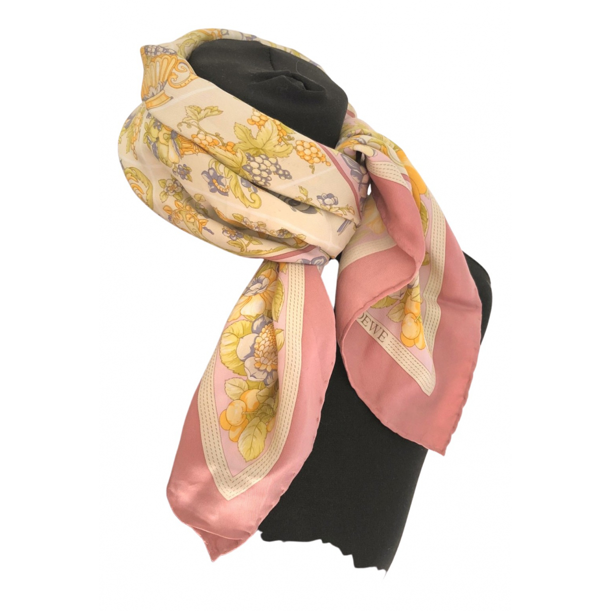 Loewe \N Pink Silk scarf for Women \N