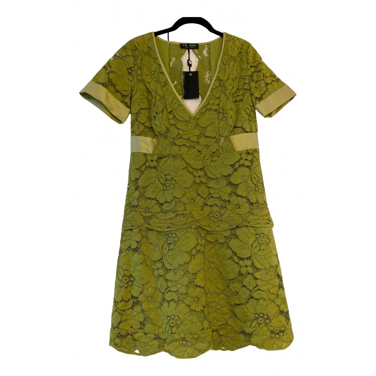 Twin Set \N Kleid in  Gruen Seide