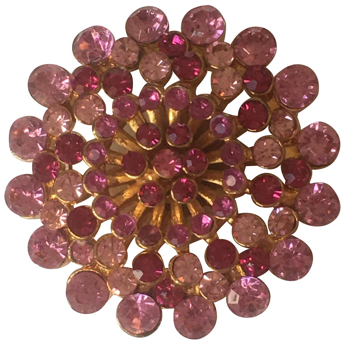 - Broche Motifs Floraux pour femme en cristal - rose