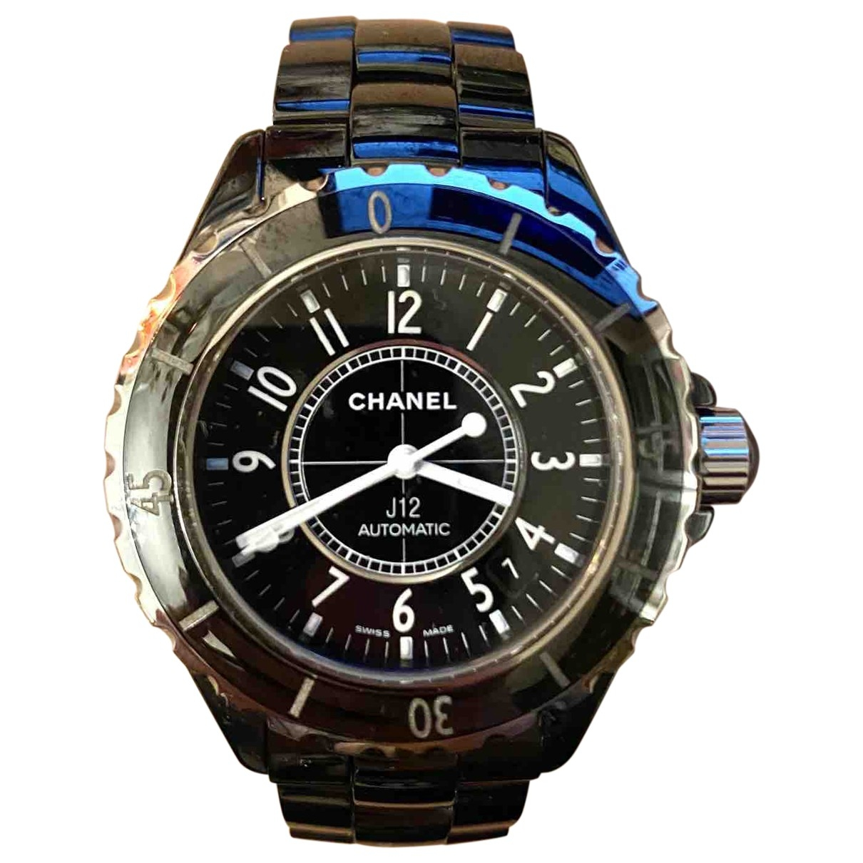 Chanel J12 Automatique Uhr in  Anthrazit Keramik