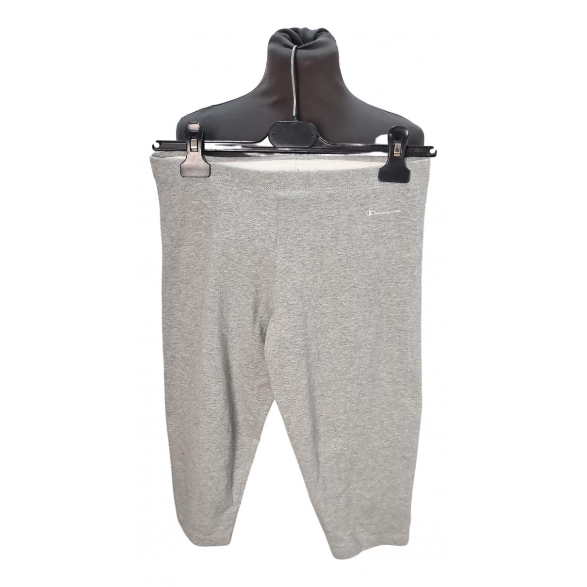Champion - Short   pour homme en coton - gris