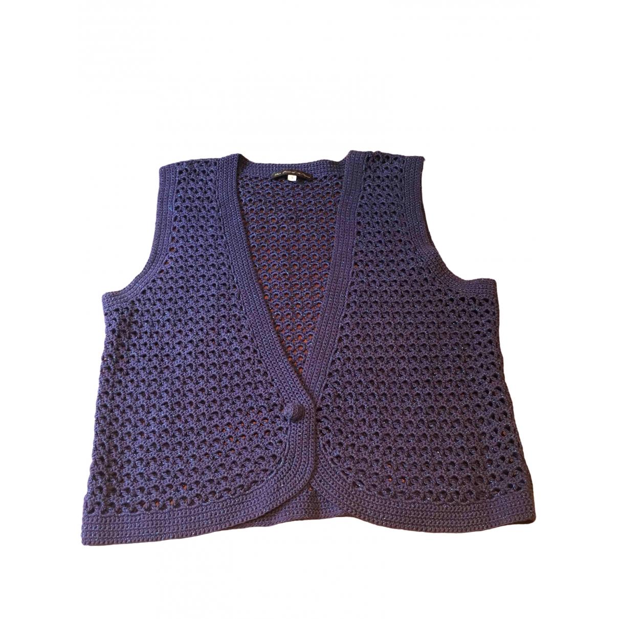Les Prairies De Paris \N Purple Cotton Knitwear for Women S International