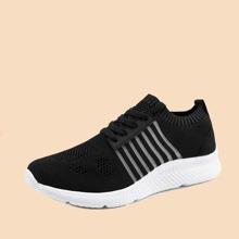 Zapatillas deportivas respirables de hombres con cordon