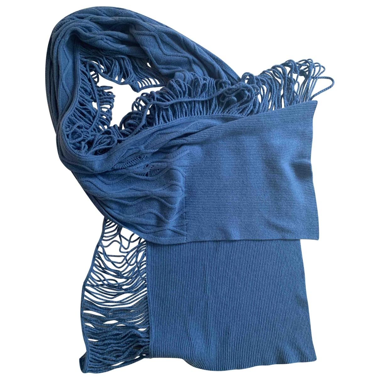 Stella Mccartney - Foulard   pour femme en cachemire - bleu