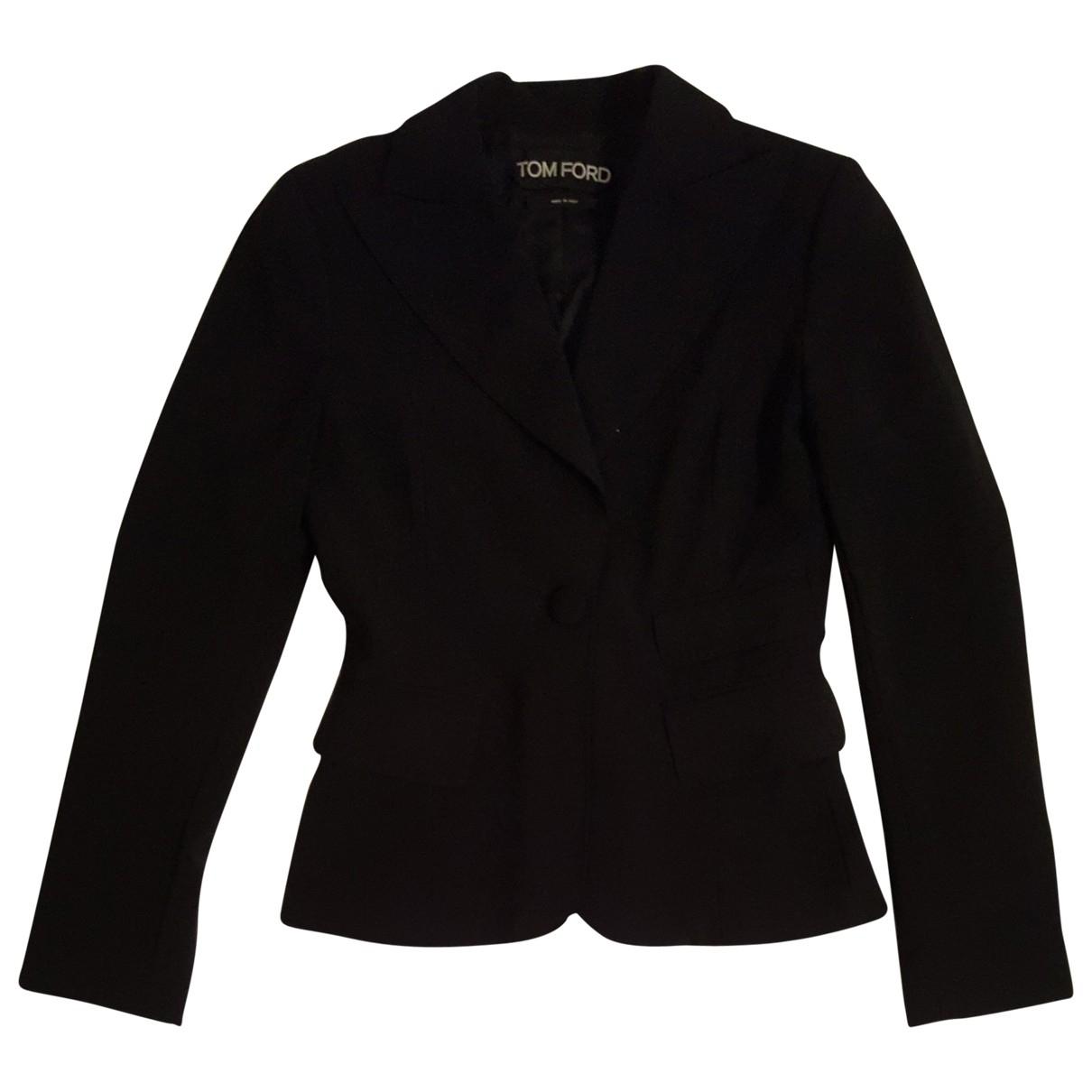 Tom Ford \N Jacke in  Schwarz Polyester